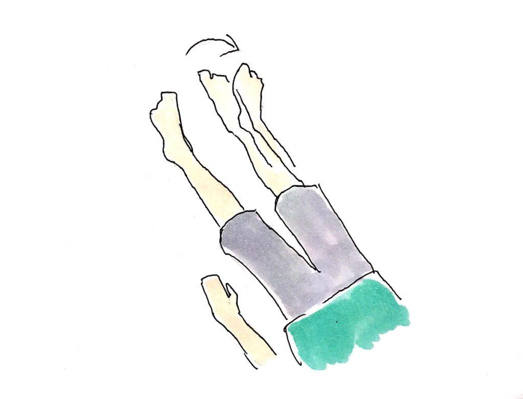 左右に脚全体を動かす